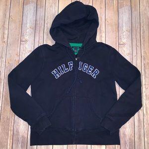Tommy Hilfiger Womens navy blue zip up hoodie Sz M